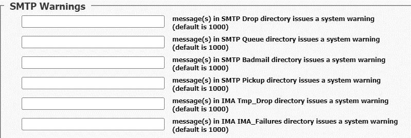 SMTP Warnings